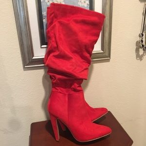 NEW! Charlotte Russe red heel boots! Size 8